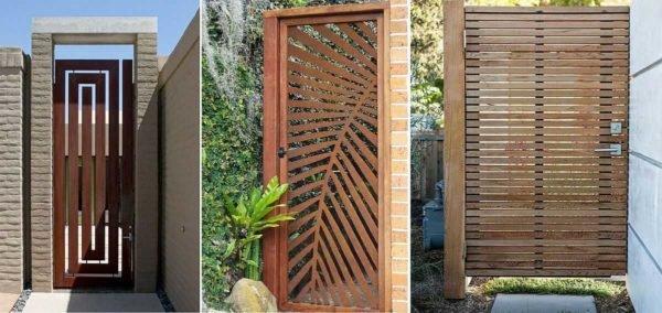 Для домов в современном стиле калитки нужны соответственные