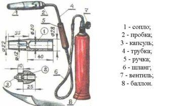 горелка с вентилем