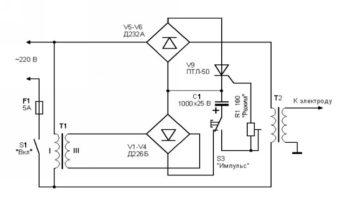 электросхема прибора