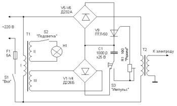 электросхема аппарата