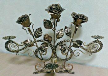 металлические кованые розы
