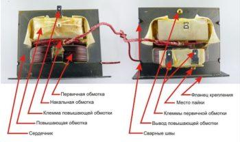 из чего состоит трансформатор