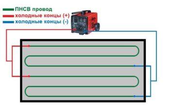 схема подключения сварочника