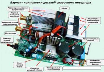 вариант компоновки деталей инвертора